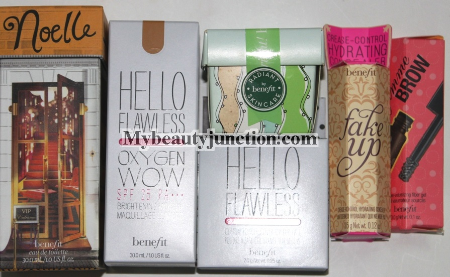 Benefit Cosmetics makeup and skin care haul, including foundation, perfume and more