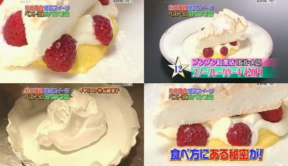 ขนมญี่ปุ่น, ขนมประเทศญี่ปุ่น, จัดอันดับอาหาร, อาหารญี่ปุ่น, สโนว์เฟล็กเค้ก