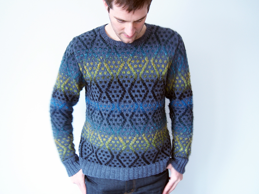 Balkan by Brandon Mably, knit in Noro Silk Garden by blogger Dayana Knits