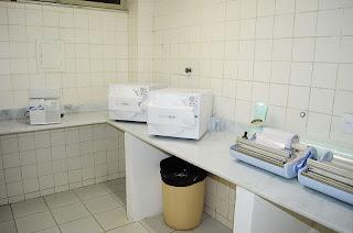 Sala de esterilização do CEO