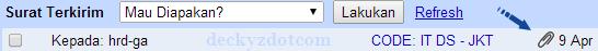 Mengambil file yang dikirim di email gmail