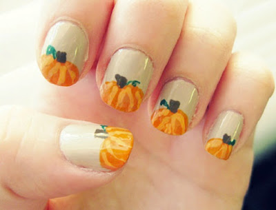 Thanksgiving-NAil-Art-pumpkins