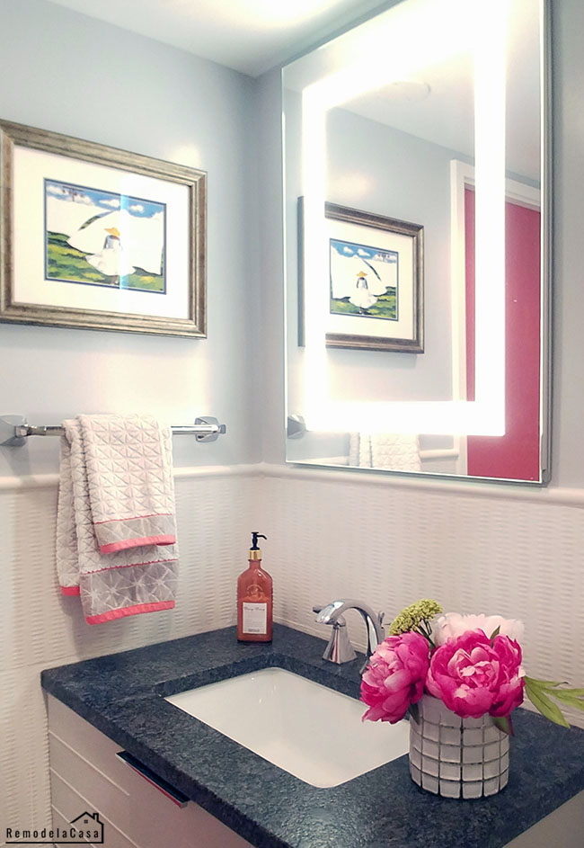 small bathroom makeover with creative ways to make appear larger