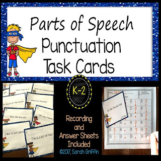 https://www.teacherspayteachers.com/Product/Punctuation-Marks-Task-Cards-Writing-Center-3206786