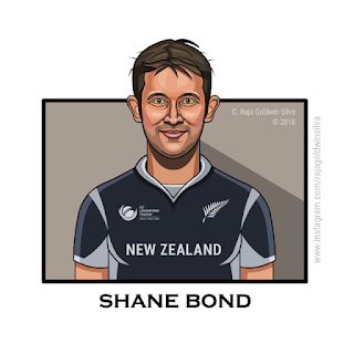 Shane Bond Caricature Cartoon