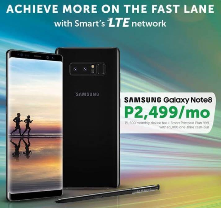 Smart Now Offers Postpaid Plans for Samsung Galaxy Note 8