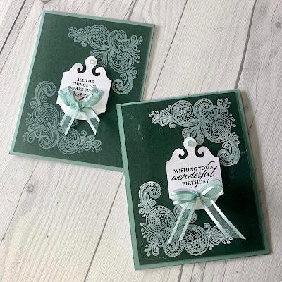 Two cards using Stampin' Up! Elegantly Said Stamp Set
