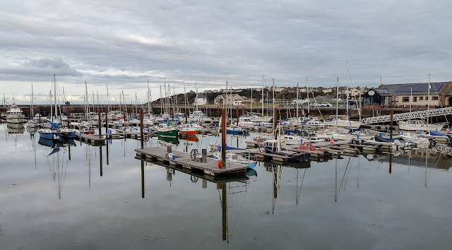 Photo of the calm after the storm at Maryport Marina