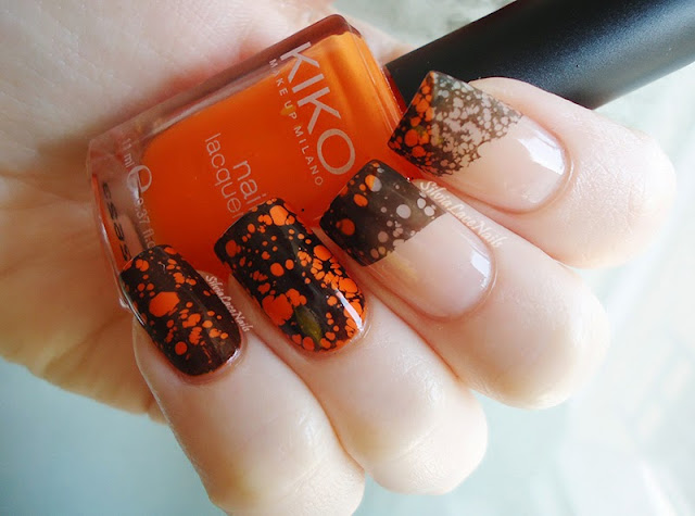 Silvia Lace Nails: Halloween water spotted french