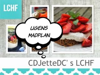 CDJetteDCs ugentlige madplaner med tilhørende opskrifter