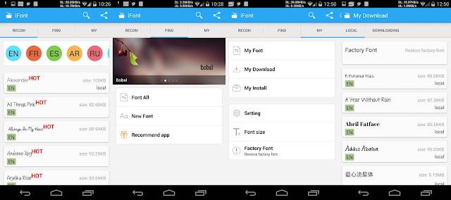 iFont Aplikasi Font Android Terbaik dan Gratis