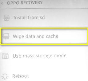 Oppo F1s Wipe Data