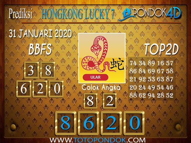 Prediksi Togel HONGKONG LUCKY7 PONDOK4D 31 JANUARI 2020
