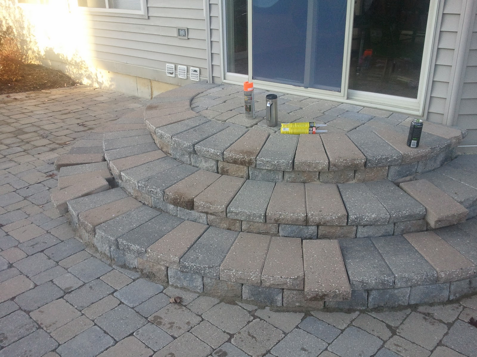 Brick Paver Patio Steps