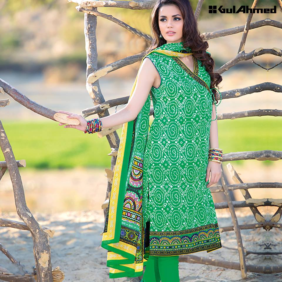 eb06bb9fdb Gul Ahmed has also brought a Bandhani Lawn Collection 2016. This line has  hypnotizing local chunri prints in intense outlines. Visit your closest  outlet to ...