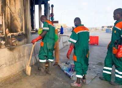 Lagos govt under fire for cleaning Lekki 'crime scene'