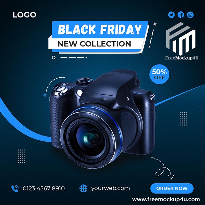 Camera Brand Product Social Media Post Banner