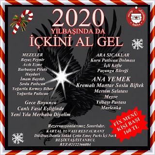 Kartal Yuvası Restaurant İstanbul Yılbaşı Programı 2020 Menüsü