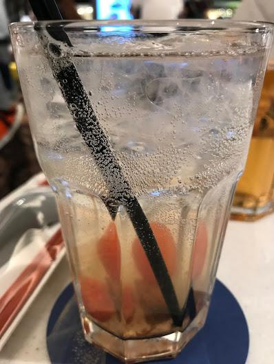 Milkfish, tomato plum soda