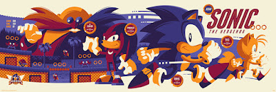 Sonic the Hedgehog Regular Purple Edition Screen Print by Tom Whalen x Skuzzles