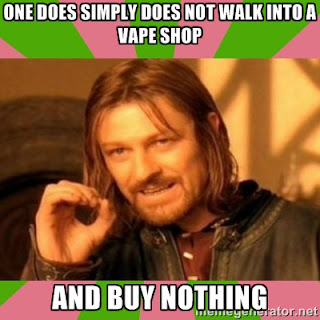 Ned Stark meme - one does not simply walk into a vape shop and buy nothing - juice joke