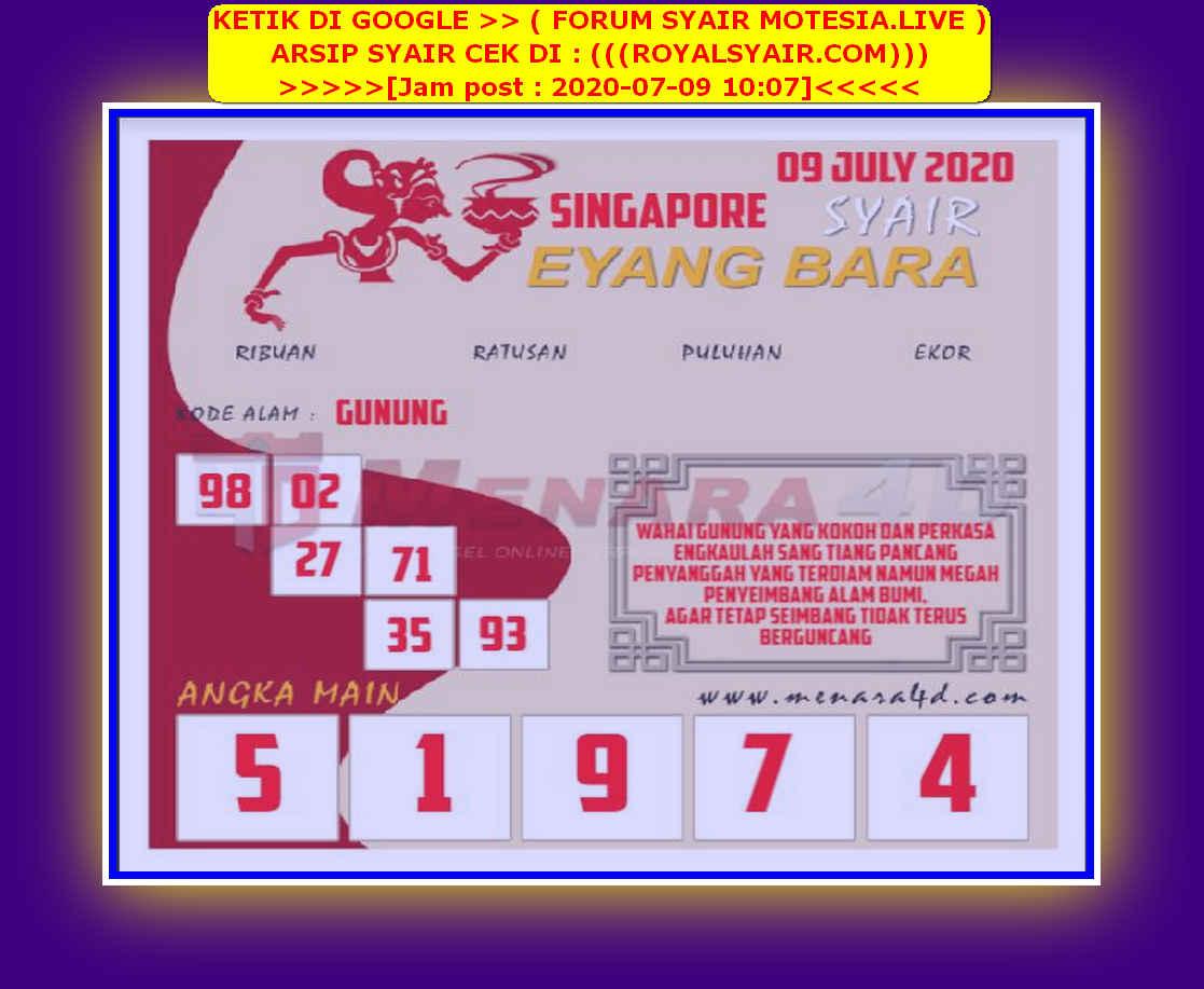 Kode syair Singapore Kamis 9 Juli 2020 112