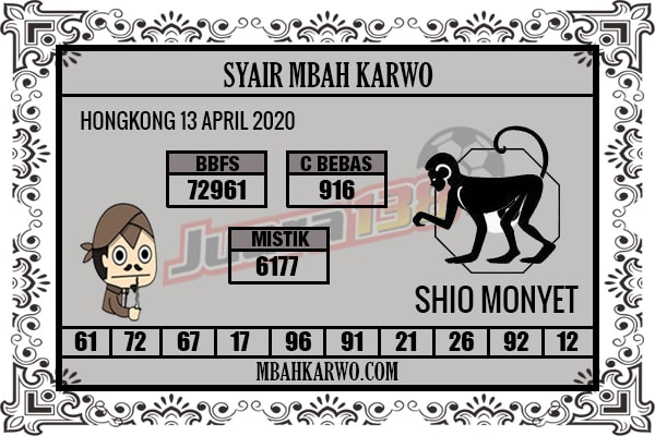 Prediksi HK Senin 13 April 2020 - Syair Mbah Karwo