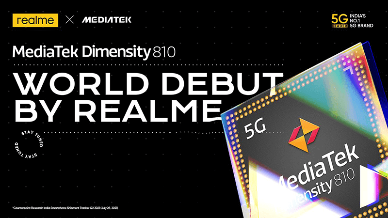 realme will soon launch a smartphone packed with the new Dimensity 810 5G SoC