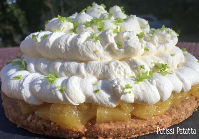 recette de cheesecake ananas, dessert à l'ananas, gâteau à l'ananas, recette Fou de Pâtisserie, cheesecake sans cuisson, crème pour un cheesecake, cheesecake ananas de Nicolas Buche,