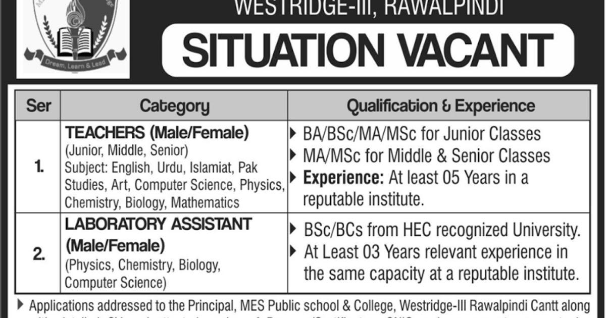 Jobs In Military school Pakistan - Jobs24pk com New Jobs in