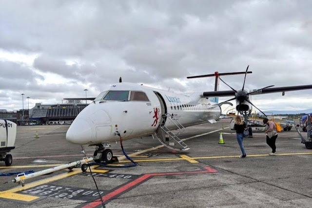 4 days in Luxembourg: flying to Luxembourg Airport on a tiny plane from Dublin