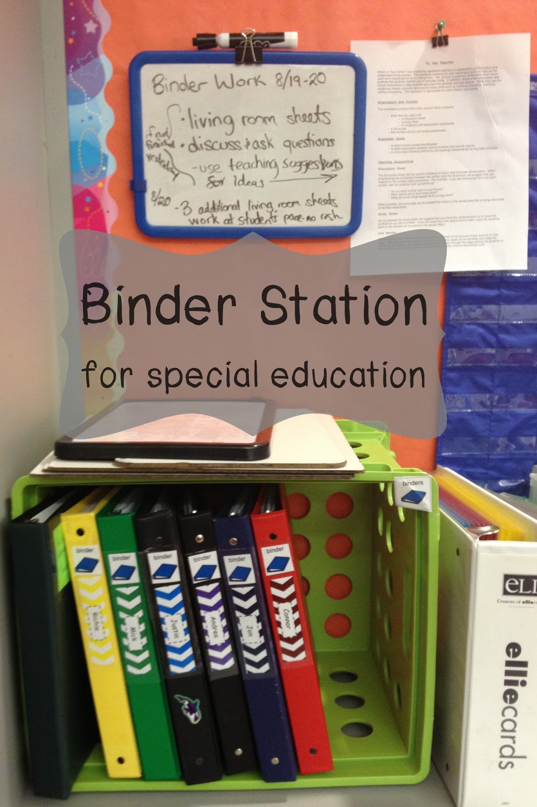Binder Work Station For Special Education