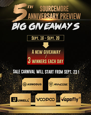 Sourcemore 5th anniversary Big Giveaway