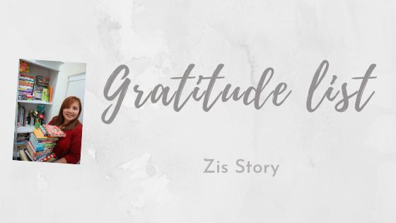 Gratitude List April 2021