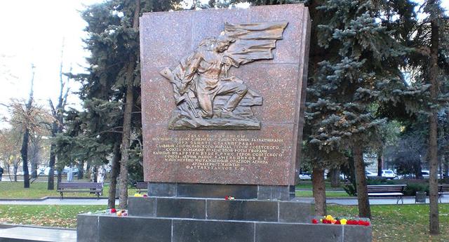 Monumento a Rubén Ibárruri en Volgogrado.