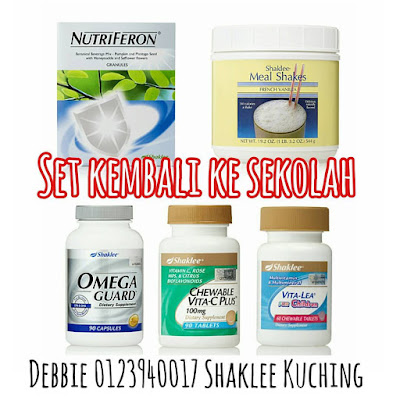 Set Kembali ke Sekolah Shaklee - Nutriferon, Omega Guard, Meal Shakes, Chewable Vita-C Plus, Vita-Lea for Children