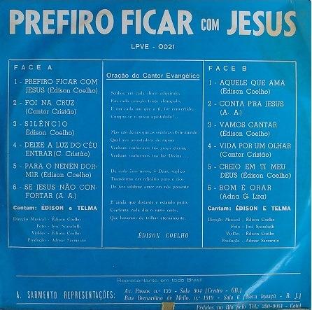 E FICAR JESUS BAIXAR EDISON EU TELMA PREFIRO COM