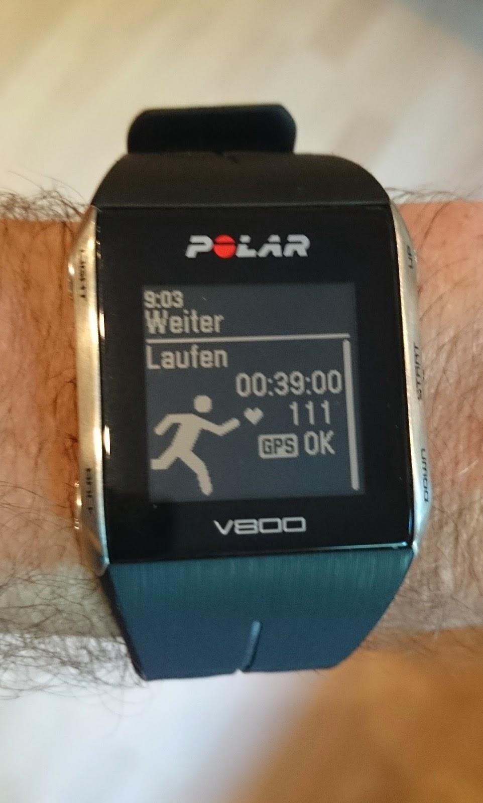 Polar V800-A short review from a short test    Running down