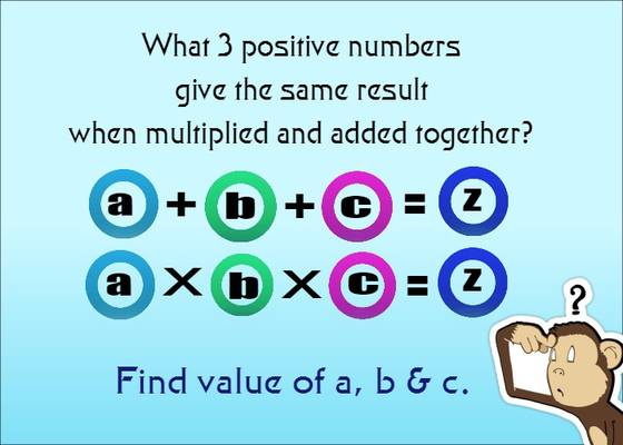 Find unknown numbers in math puzzle
