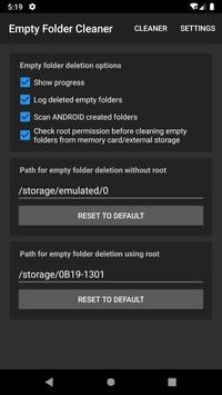 تحميل تطبيق Empty folder cleaner