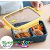 Lunch Box 2 Sekat 750 ml include Sendok Sumpit Plastik