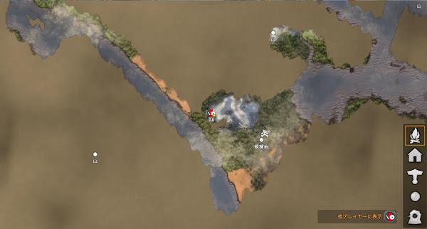 Valheim5 山バイオームマップ