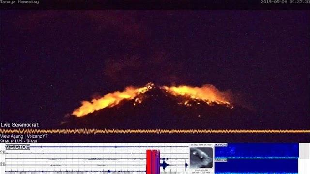 Warga Dihimbau Mengungsi Gunung Agung di Bali Erupsi Lontarkan Batu Pojar Sejauh 3 Kilometer