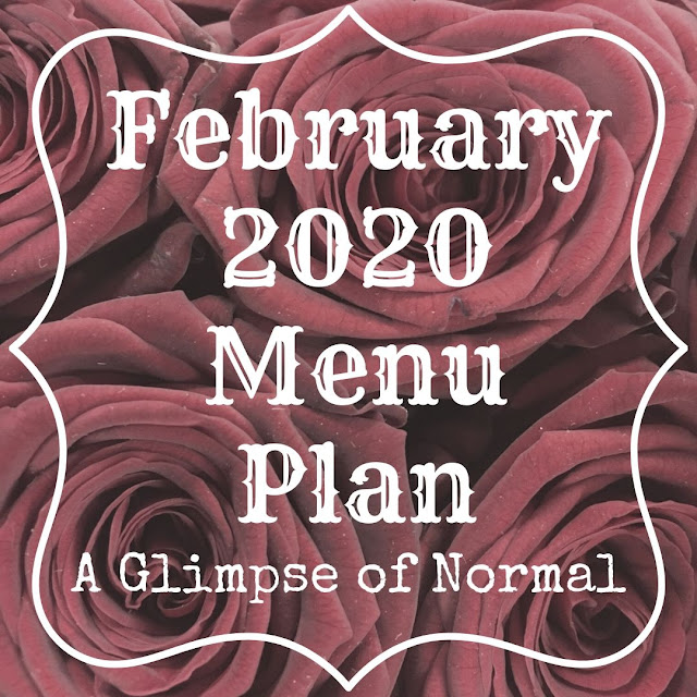 Come and check out what is for dinner this month at our house at A Glimpse of Normal.