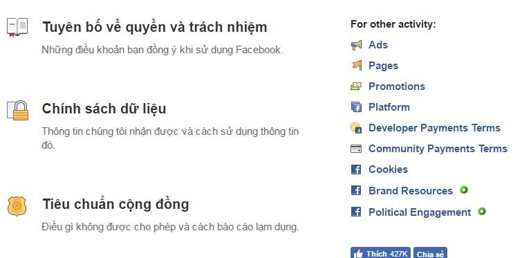Điều khoản sử dụng facebook mọi người cần biết