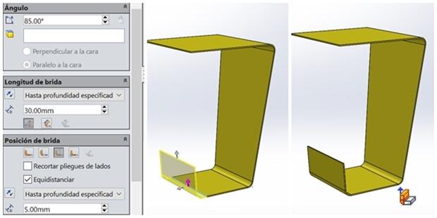 Añadir material con la operación brida-arista a la chapa metálica