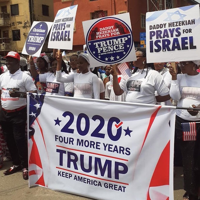 Church in Nigeria holds special procession for Trump ahead of Nov polls