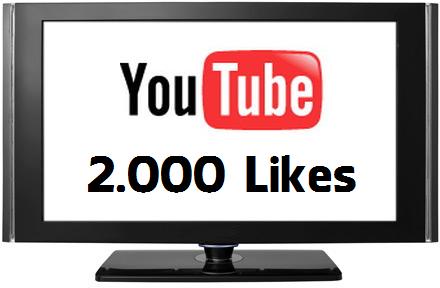 Buy 2000 YouTube Likes