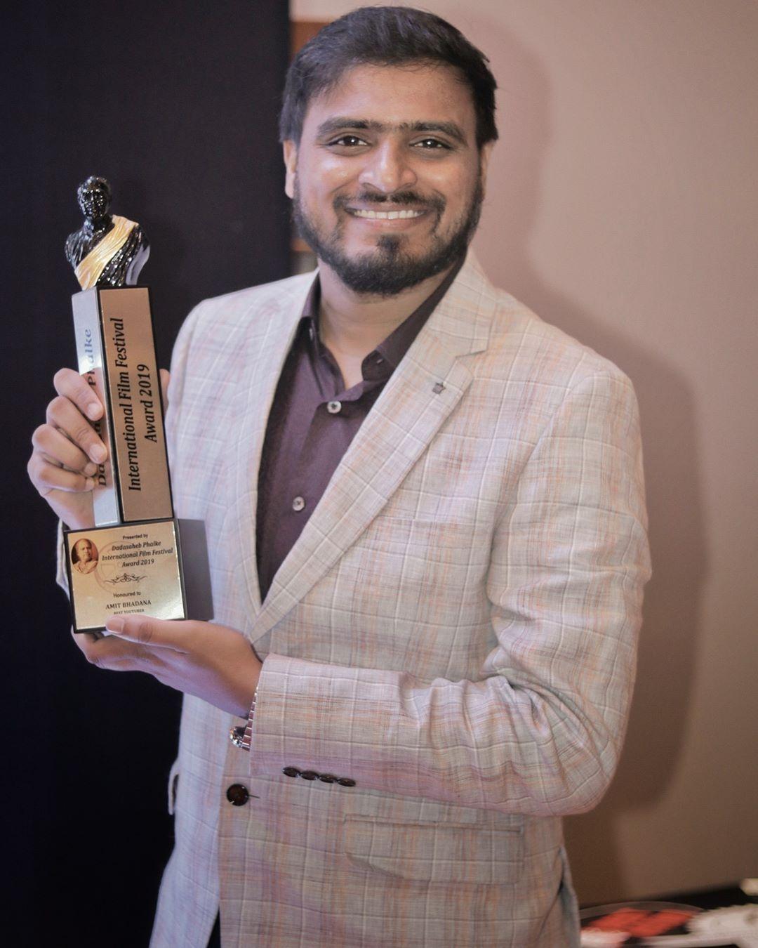 Amit Bhadana Won Dadasaheb Phalke International Film Festival Award
