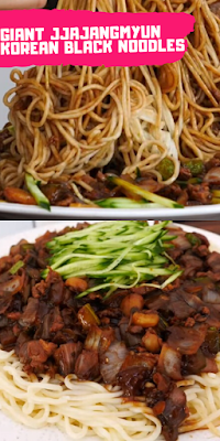 giant jjajangmyun korean black noodles